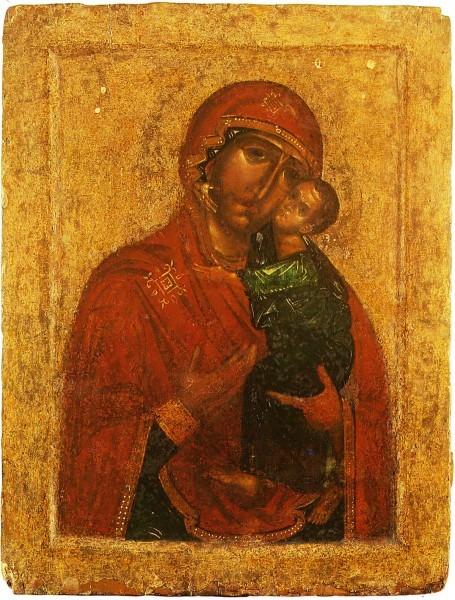 Богоматерь Толгская. Ярославль. XIV в. Ярославский художественный музей; сейчас в Толгском монастыре