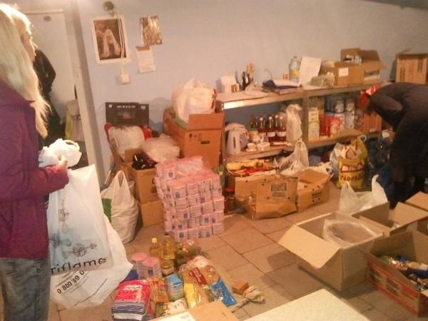 В Киево-Печерской Лавре собирают продукты и школьные принадлежности для пострадавших на Востоке Украины