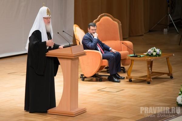 """Патриарх Кирилл ответил на вопросы участников фестиваля """"Вера и слово"""""""