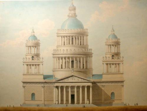 Исаакиевский собор. Проект Монферрана 1818 года