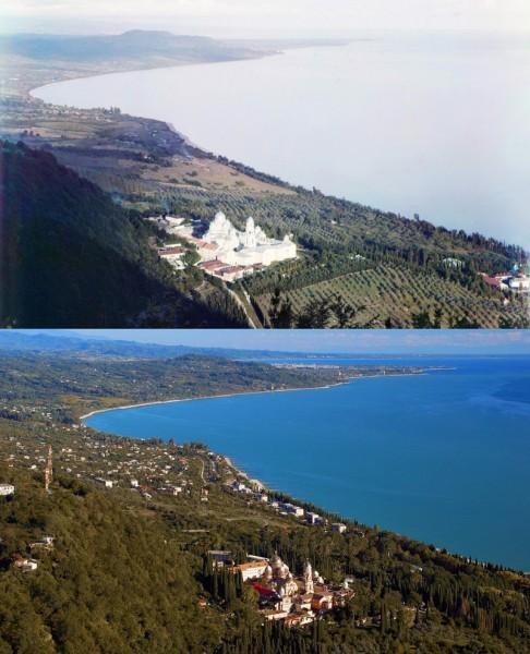 Новый Афон. Вид с Иверской горы. 1904/2012 (Михаил Немир)