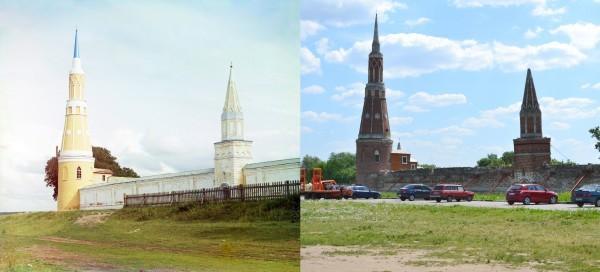 Угловая башенка в ограде Голутвинского монастыря. 1912/2012 (В. Ратников)