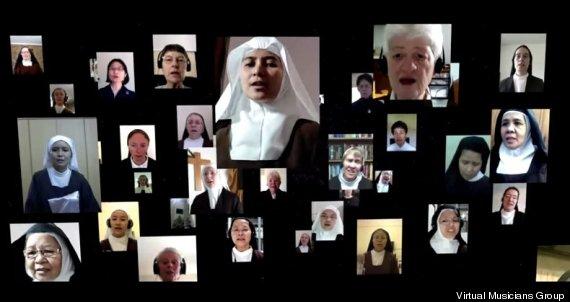 Католические монахини мира спели виртуальным хором