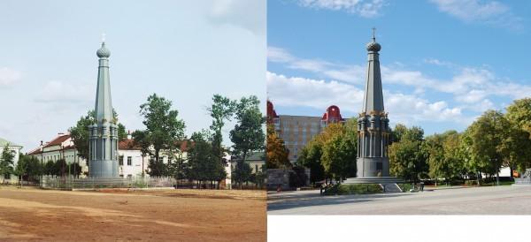Полоцк. Памятник войны 1812 г. на площади около Николаевского собора. 1912/2012 (Максим, г. Брест)