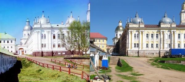 Главный корпус монастыря препод. Нила Столбенского. 1910/2010 (В. Ратников)