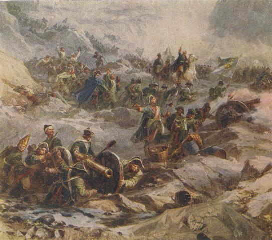 «Альпийский поход Суворова. Фрагмент диорамы», А. Интезаров