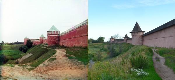 Западная стена Спасо-Ефимиевского монастыря. Суздаль. 1912/2012 (В. Ратников)