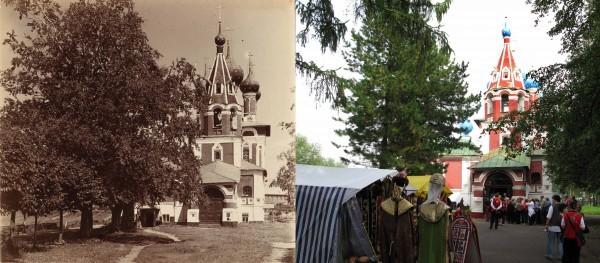 Церковь Св. Царевича Димитрия со стороны входа.1910/2008 (В. Ратников)