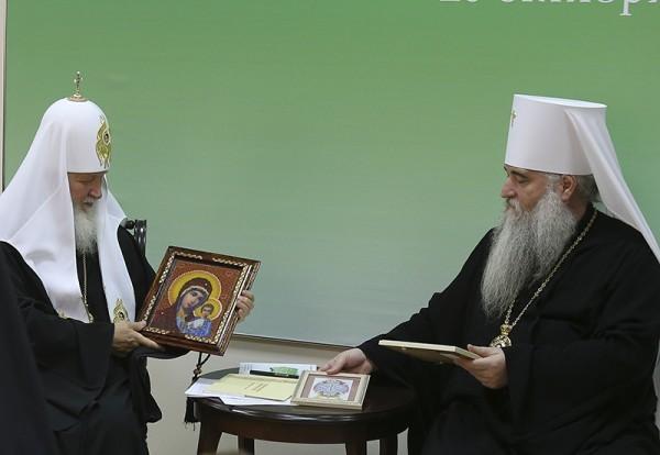 Завершился визит Патриарха Кирилла в Саратовскую митрополию