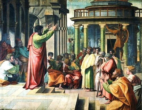 Проповедь святого Павла в Афинах Рафаэль 1515.