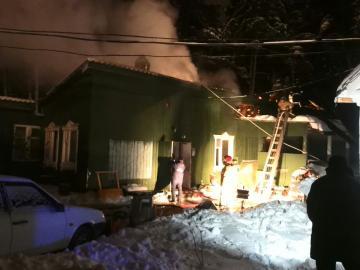 Пожар произошел на территории Скита Женского Ново-Тихвинского Монастыря