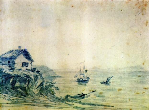 """""""Тамань"""" (масло, 1837) © Предоставлено Государственным музеем-заповедником """"Тарханы"""" Фото: http://tass.ru/"""