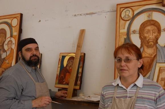 Матушка Марина Турнова и священник Андрей Давыдов