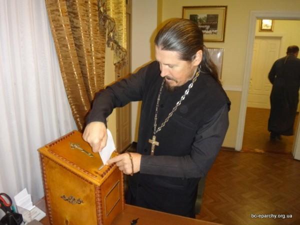 Белоцерковские священники избрали благочинного путем тайного голосования