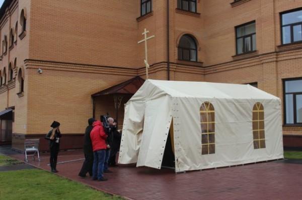 В Кемерово появилась православная храм-палатка
