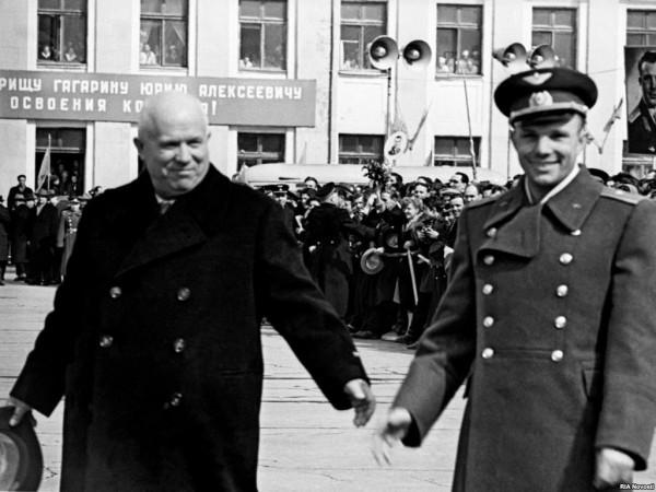 Хрущев и Гагарин