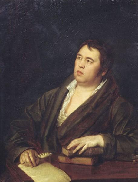 Волков Р.М. Портрет баснописца И.А. Крылова. 1812.