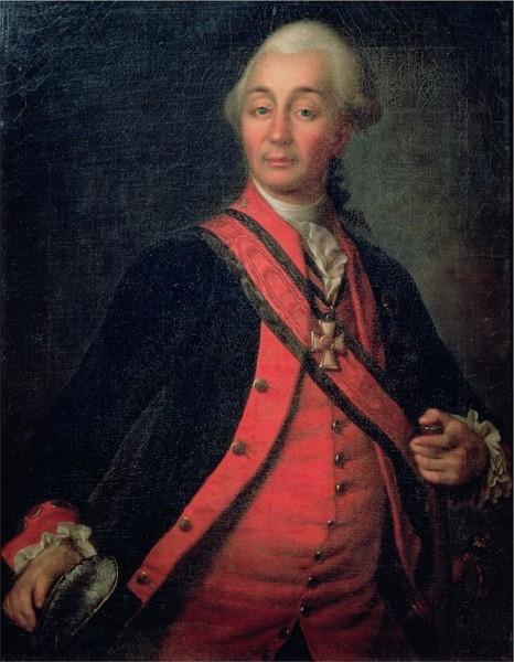 А.В. Суворов на портрете Д. Левицкого (около 1786 года)