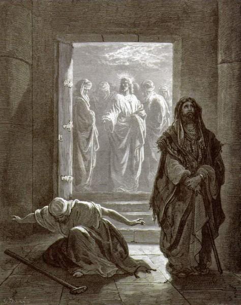 """""""Фарисей и мытарь"""", Доре"""