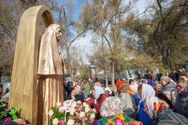В Казахстане открыли памятник преподобномученице великой княгине Елисавете Феодоровне