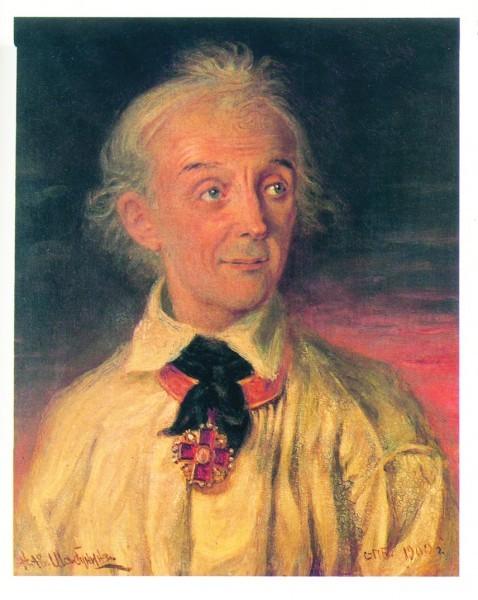 Н.Шабунин. Портрет А. В. Суворова. 1900 г.