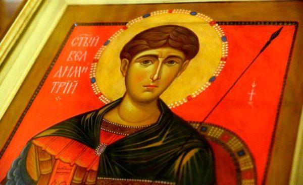 Церковь чтит память святого великомученика Димитрия Солунского