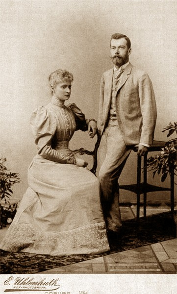 Цесаревич Николай Александрович и принцесса Алиса Гессенская после помолвки (Кобург, апрель 1894)