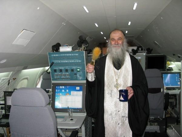 Освящение спецборта – лётной лаборатории РОСГИДРОМЕТа
