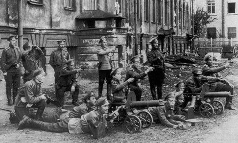 Река Нева, октябрь 1917 года