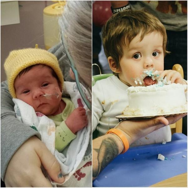 """""""Мой малыш в 34 недели и в его первый день рождения"""""""