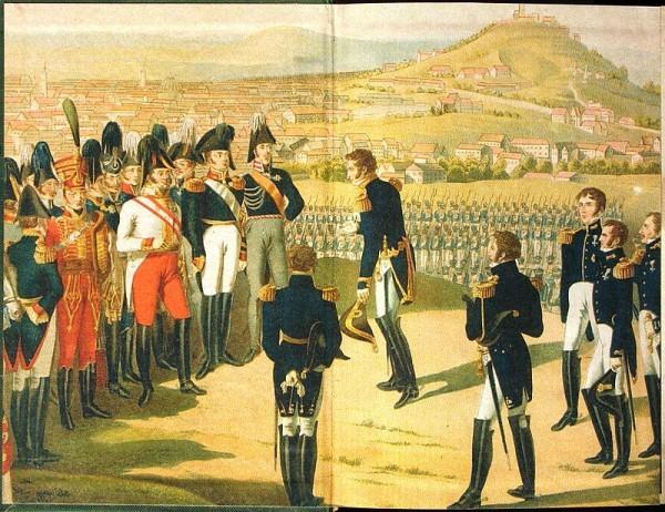 Александр Первый принимает капитуляцию наполеоновского Парижа, 1814