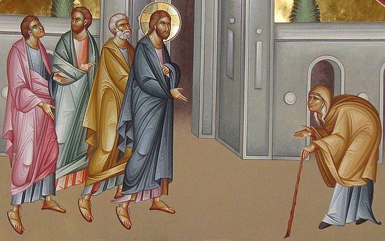 Об исцелении скорченной женщины, исцеленной в субботу