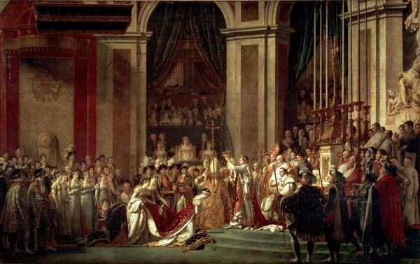 Жак Луи Давид Посвящение императора Наполеона I и коронование императрицы Жозефины в соборе Парижской Богоматери 2 декабря 1804 года, 1806—1807