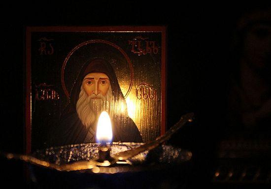 В Грузии замироточила икона святого Гавриила (Ургебадзе) (+Видео)
