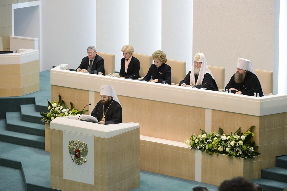 Участие Святейшего Патриарха Кирилла в Рождественских парламентских встречах в Совете Федерации РФ