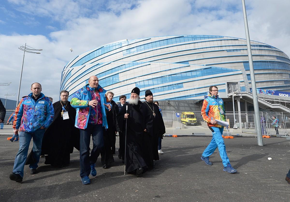 Визит Святейшего Патриарха Кирилла в Сочи. Посещение объектов прибрежного кластера Олимпиады