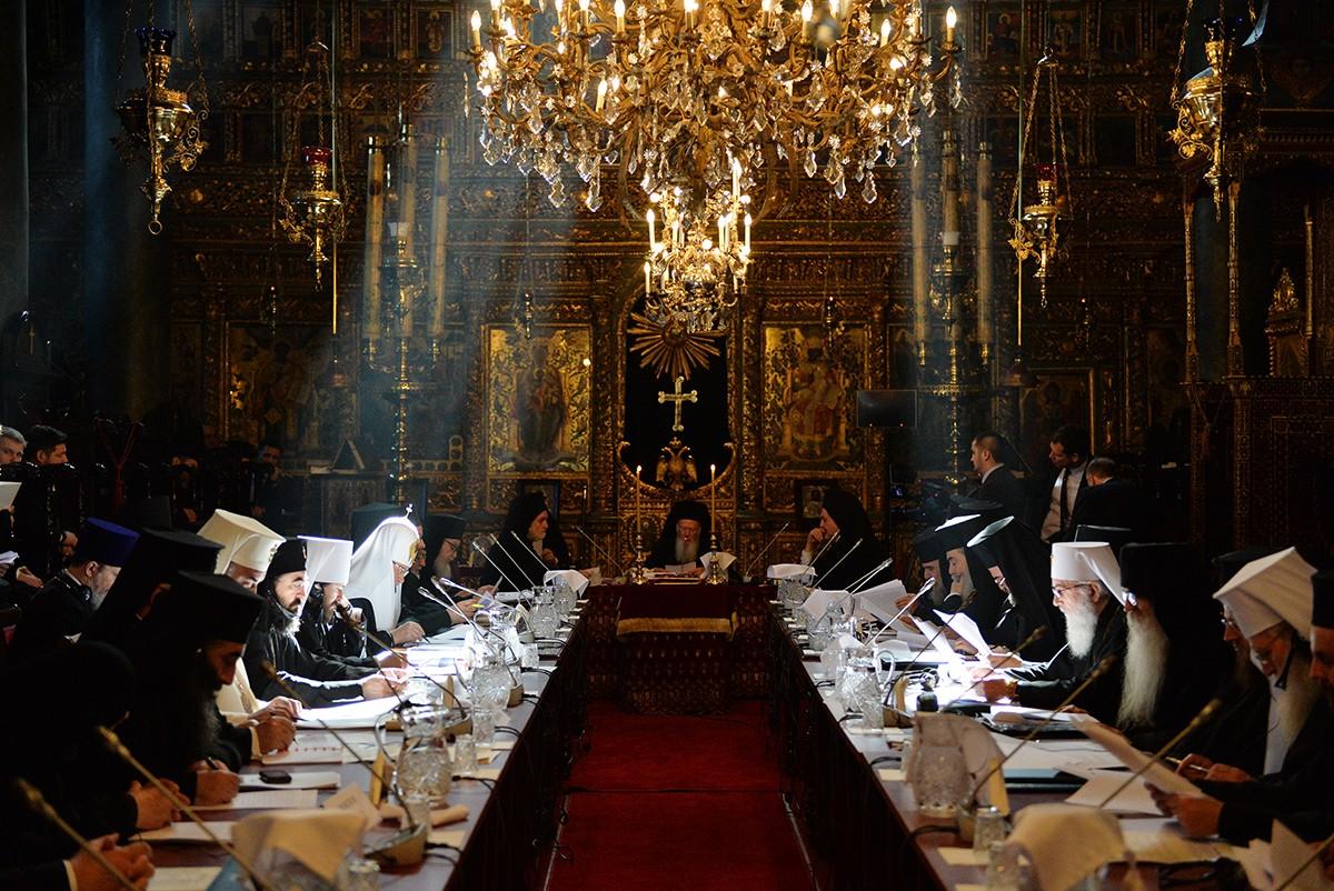 Визит в Константинопольский Патриархат. Первое заседание синаксиса Предстоятелей и представителей Поместных Православных Церквей