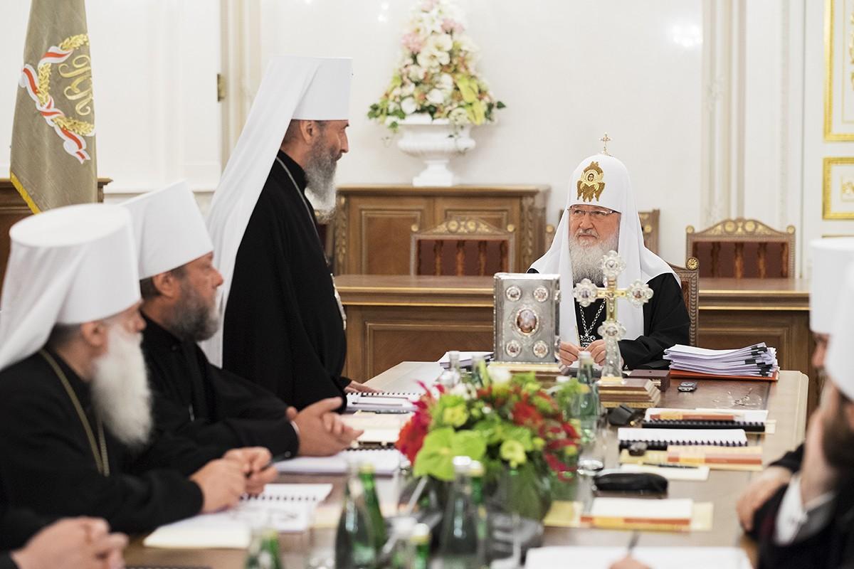 Заседание Священного Синода Русской Православной Церкви в Санкт-Петербурге