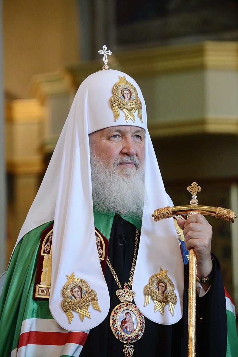 Патриарший визит в Тамбовскую митрополию. Литургия в Преображенском соборе Тамбова