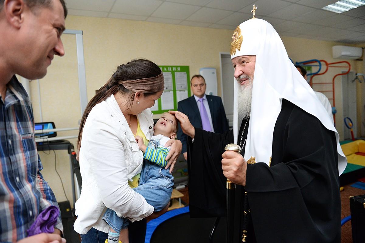 Патриарший визит в Биробиджанскую епархию. Посещение больницы св. вмч. Пантелеимона г. Биробиджана