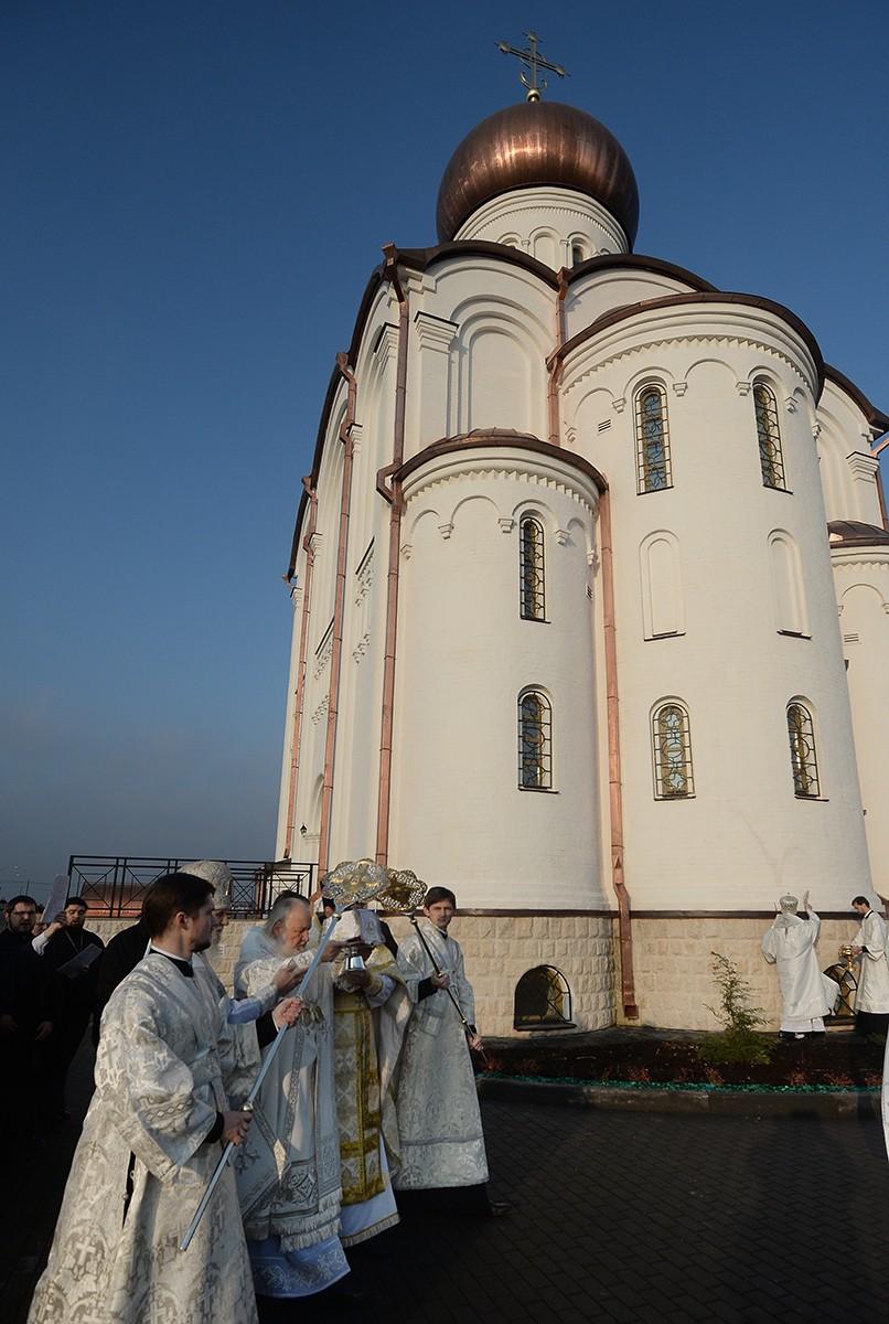 Освящение храма преподобного Сергия Радонежского на Федеральном военном мемориальном кладбище
