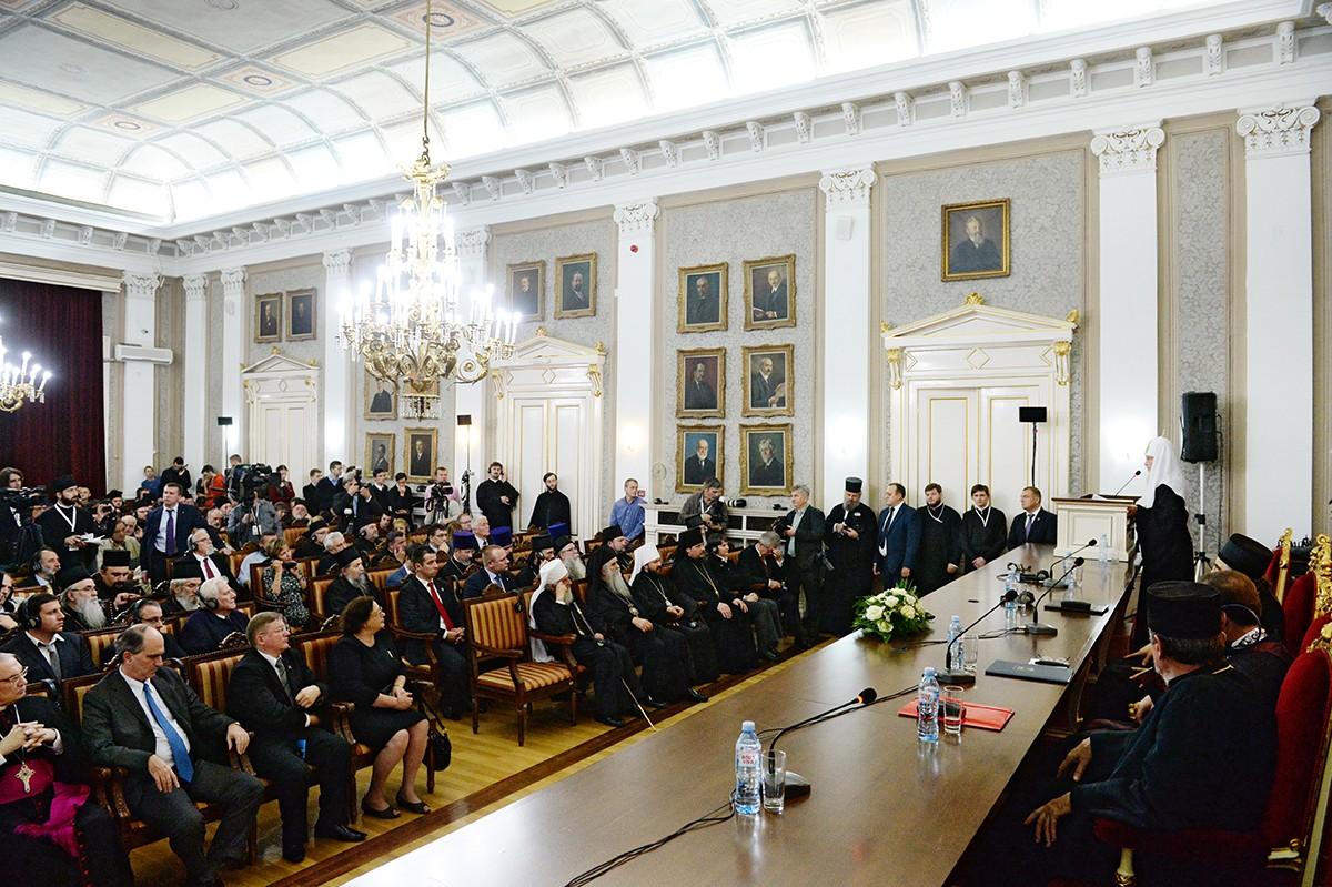 Визит Святейшего Патриарха Кирилла в Сербскую Православную Церковь. День первый. Посещение Белградского университета