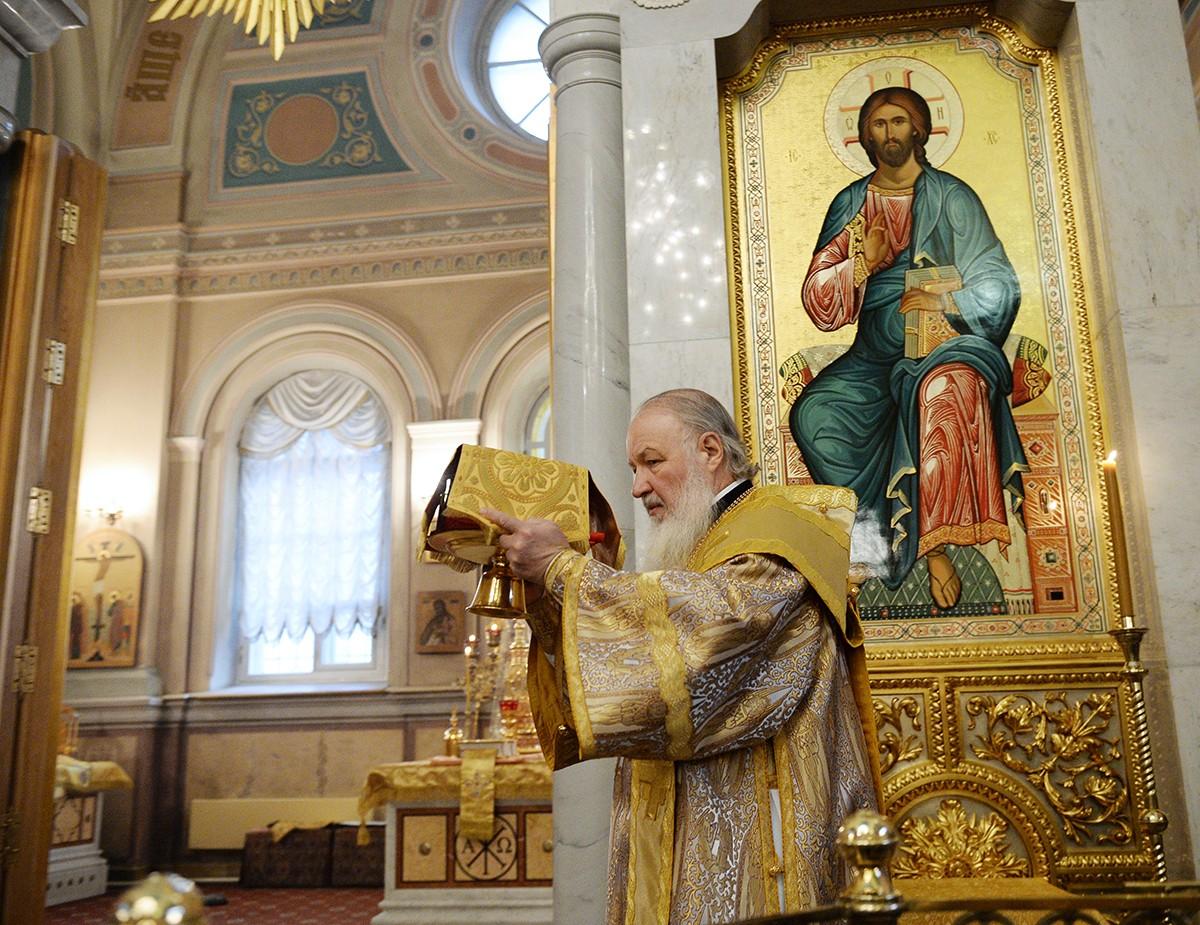 Патриаршее служение в Иоанно-Предтеченском монастыре г. Москвы
