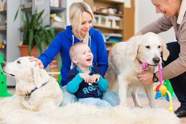 Особый ребенок и собаки. Репортаж из центра канис-терапии (+ФОТО)