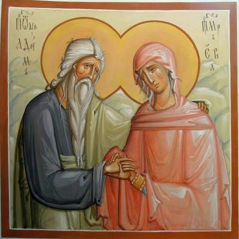 Икона Адам и Ева. Автор Светлана Ржаницына