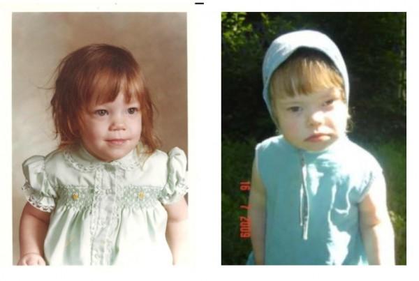 """""""Вот фотография Оксаны справа, а вот моя слева, смотрите""""."""