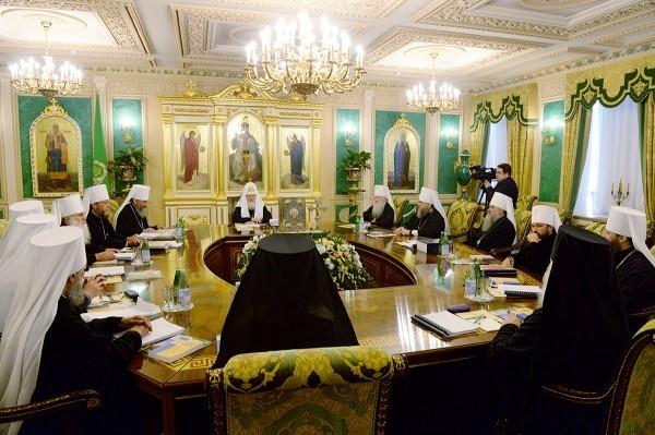 Началось последнее в 2014 году заседание Священного Синода Русской Православной Церкви