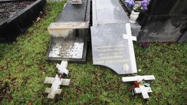 На кладбище в Сиднее осквернили русские и сербские захоронения