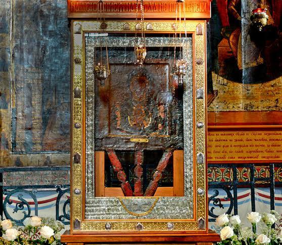 Икона в Софийском соборе Новгорода