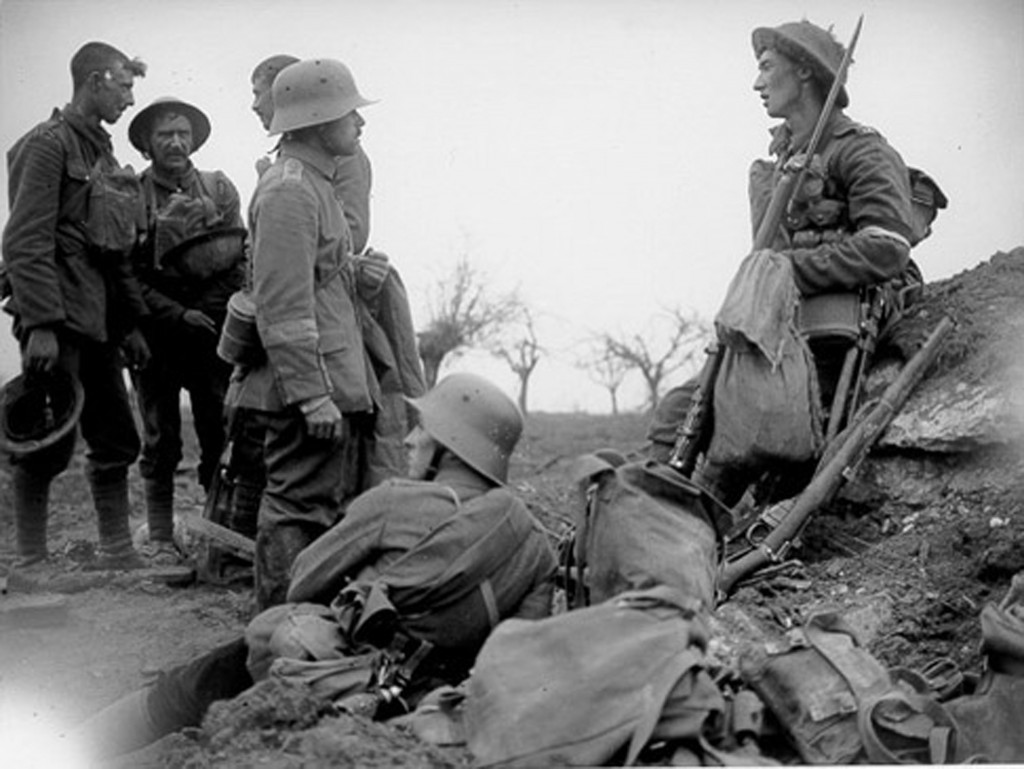 the life of soldiers being in front of the line trench
